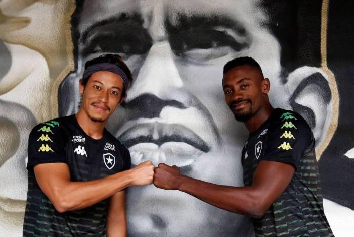 Honda e Kalou, dupla do Botafogo: juntos pela primeira vez