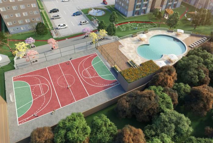 Lazer do empreendimento da Riooito em Teresópolis terá piscinas, espaço pet, play, quadra e salão de festas