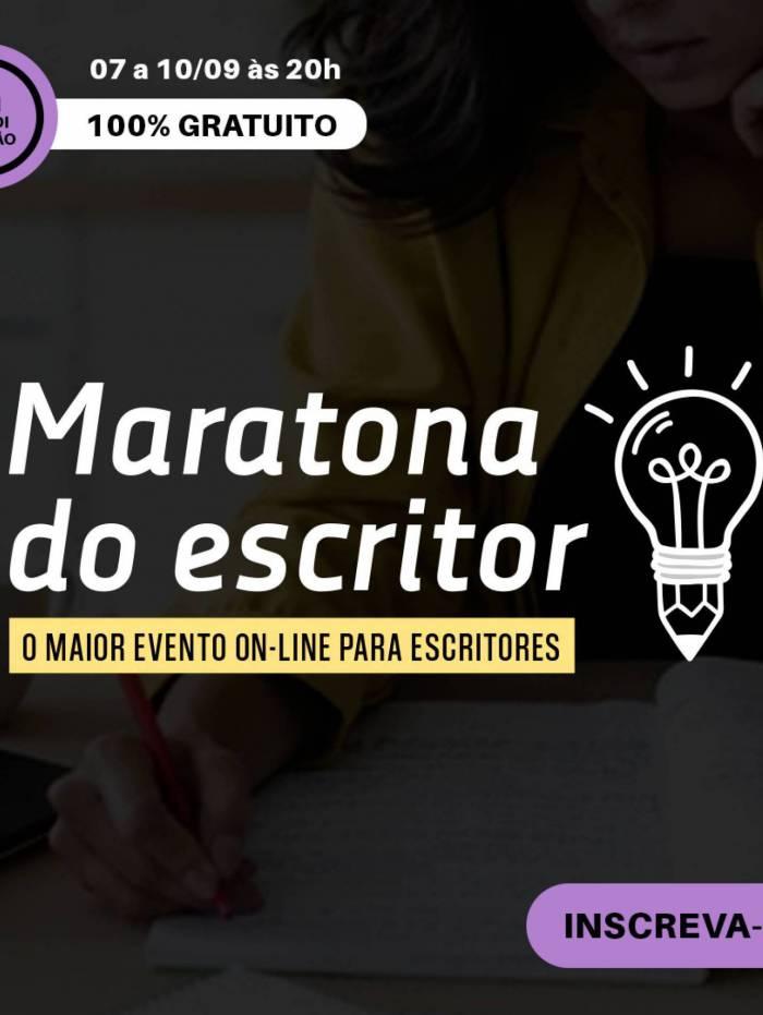 Maratona do Escritor começará no dia 7 de setembro e vai até o dia 10 do mesmo mês