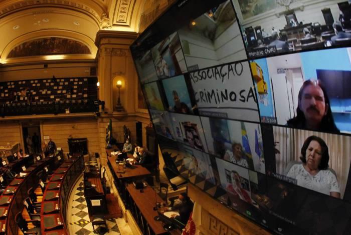 Votação na Câmara para o impeachment do prefeito Marcelo Crivella