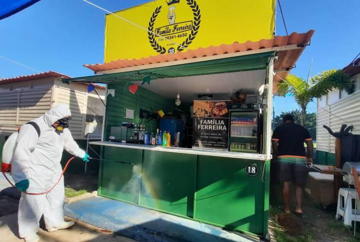 Centro de Tradições Nordestinas Severo Embaixador Nordestino, no bairro de Neves, tem comida, música e artesanatos típicos do Nordeste brasileiro