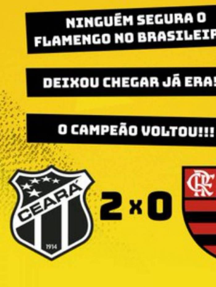 Memes: Flamengo foi derrotado pelo Ceará