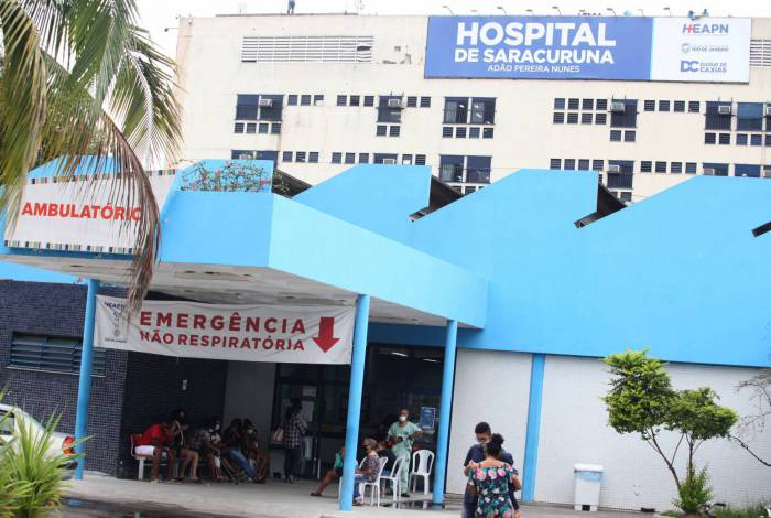 Rio, 15/09/2020  - Menina de 3 anos vitima de bala perdida, Fachada do Hospital de Saracuruna. Municipio do Rio.  Foto: Ricardo Cassiano/Agencia O Dia