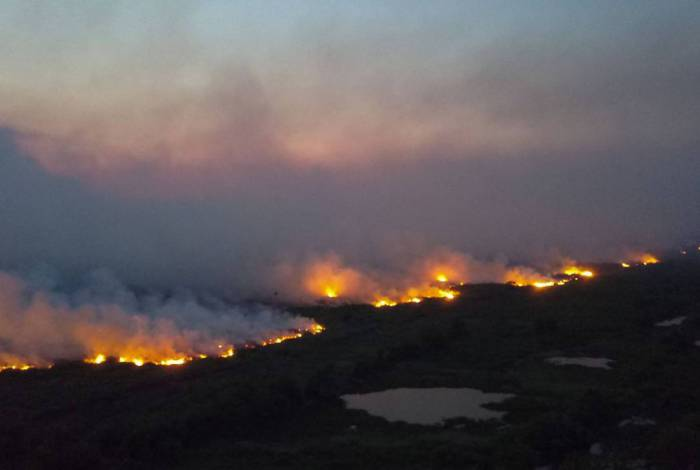 Incendios florestais no Pantanal