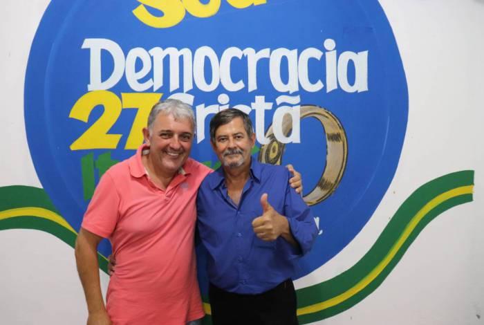 Beto do Posto (à esq.) e João da Imobiliária: dupla de empresários é lançada como candidatos e prefeito e vice, respectivamente