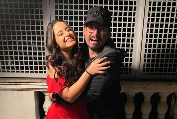 Fernando Zor e a filha Kamily