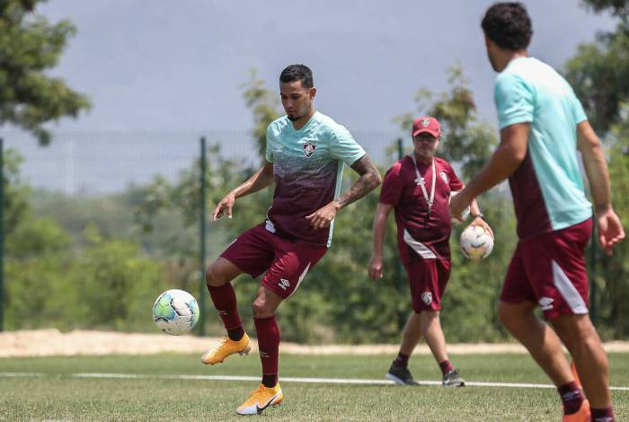 Lucca fez primeiro treino no Fluminense com os novos companheiros