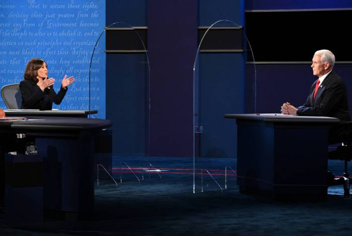 Debate entre os candidatos à vice-presidente dos EUA, Kamala Harris (Partido Democrata) e Mike Pence (Partido Republicano)