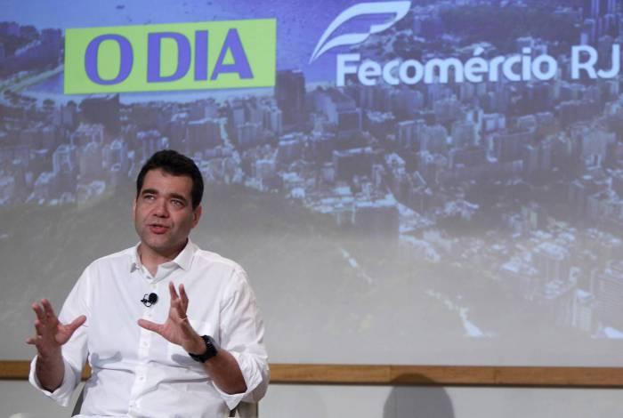 Candidato à Prefeitura do Rio, Paulo Messina durante live para o Jornal O Dia