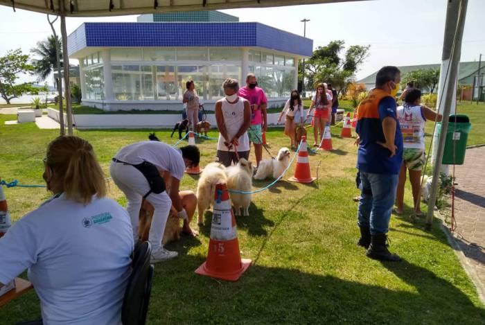 1001 pets foram vacinados em Jaconé