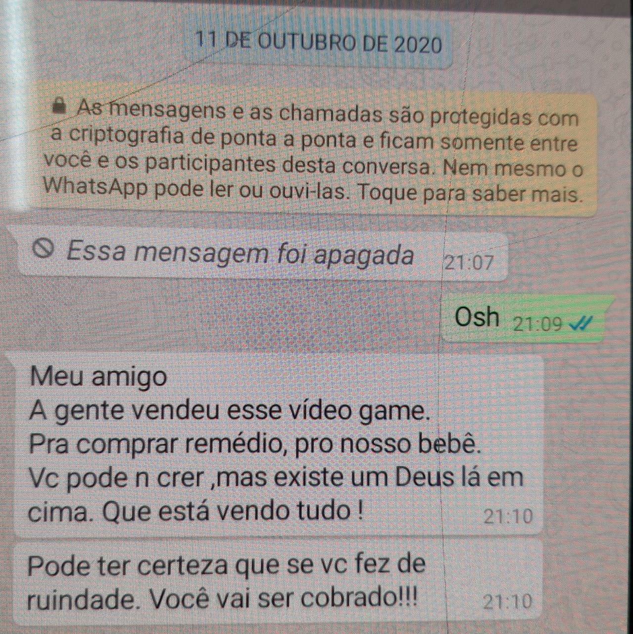 Filipe Fidelis trocou mensagens com comprador - DIVULGAÇÃO/POLÍCIA CIVIL