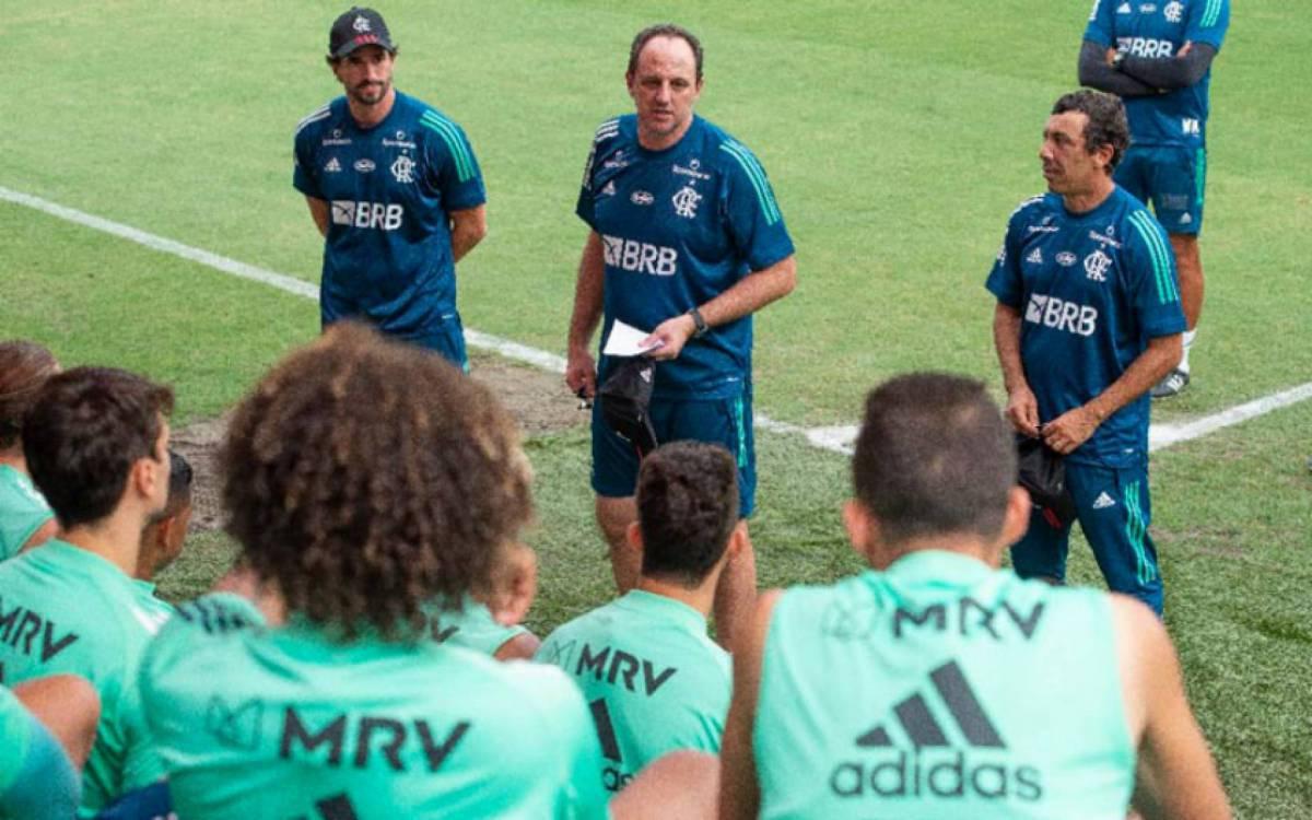 Rogério Ceni treinou o Flamengo pela primeira vez nesta terça-feira - Alexandre Vidal/Flamengo