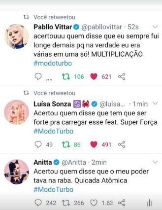 Luísa Sonza, Anitta, Pabllo - Reprodução