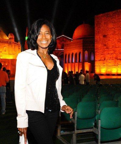 Glória Maria no local do show do Roberto Carlos - Emoções em Jerusalém