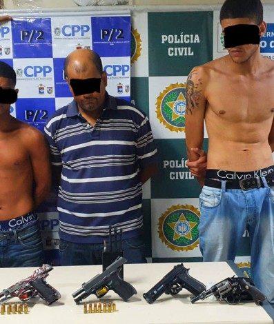 Presos foram identificados como Matheus Barros Reis, Anderson Ataide de Jesus e Rafael da Silva de Oliveira