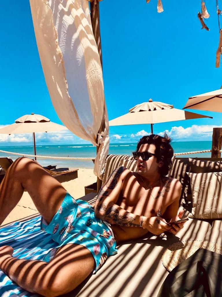 Luan Santana passa a virada do ano em Trancoso - Foto: Fábia Oliveira