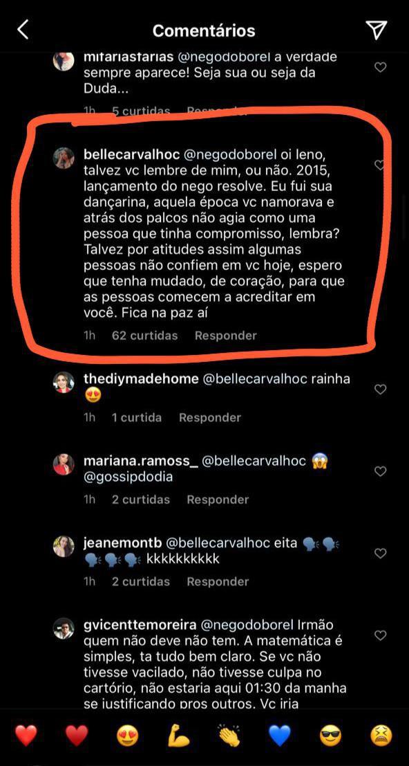 Ex-bailarina entrega traições de Nego do Borel por trás dos palcos - Reprodução Instagram