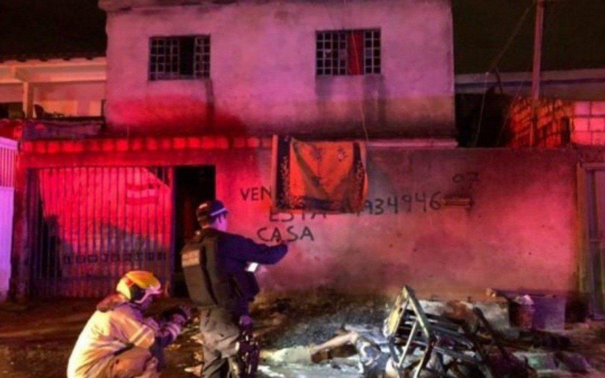 Cena do crime encontrada pela Polícia  - Divulgação/CBMDF