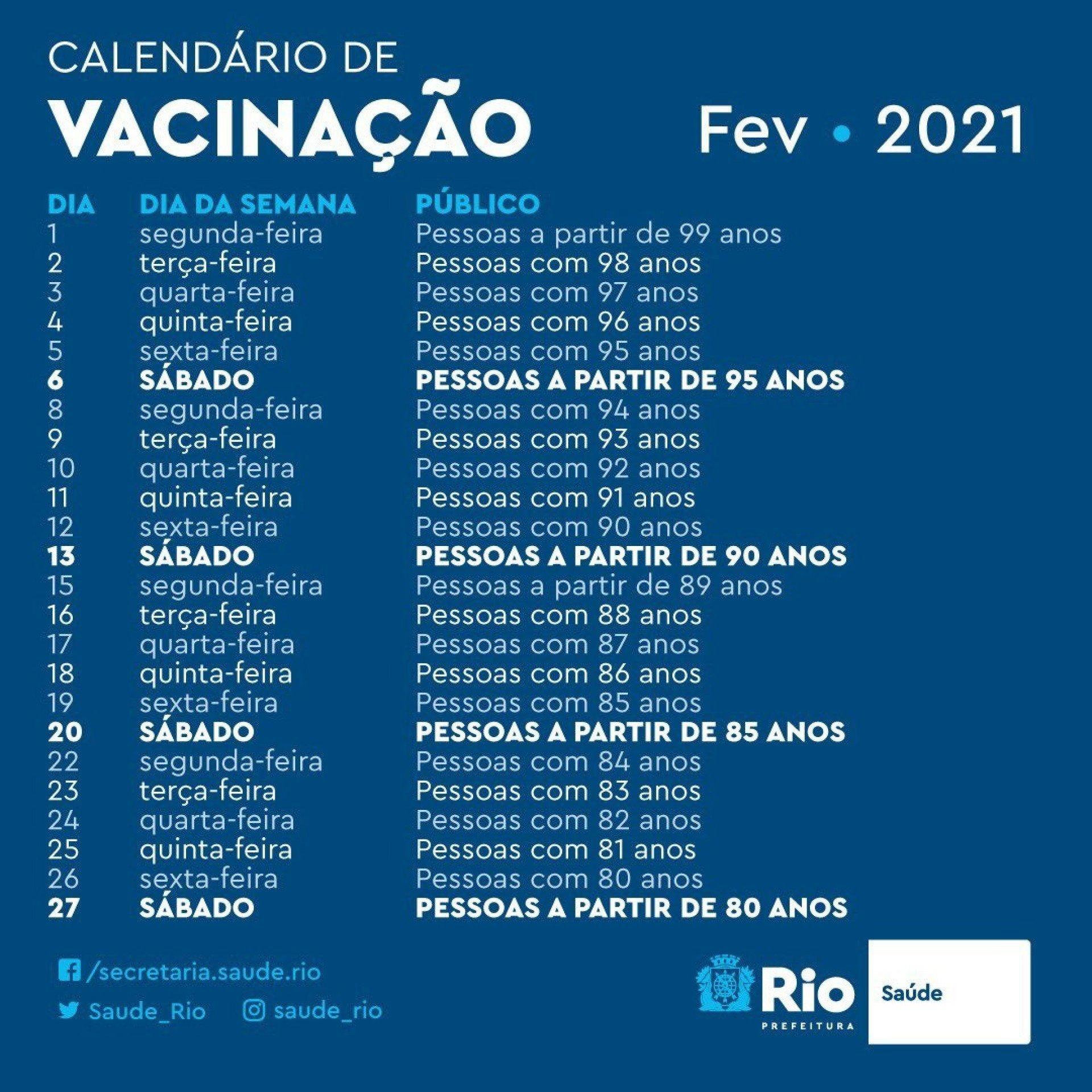 El calendario de vacunación para personas mayores comienza el 1 de febrero - reiniciando Twitter