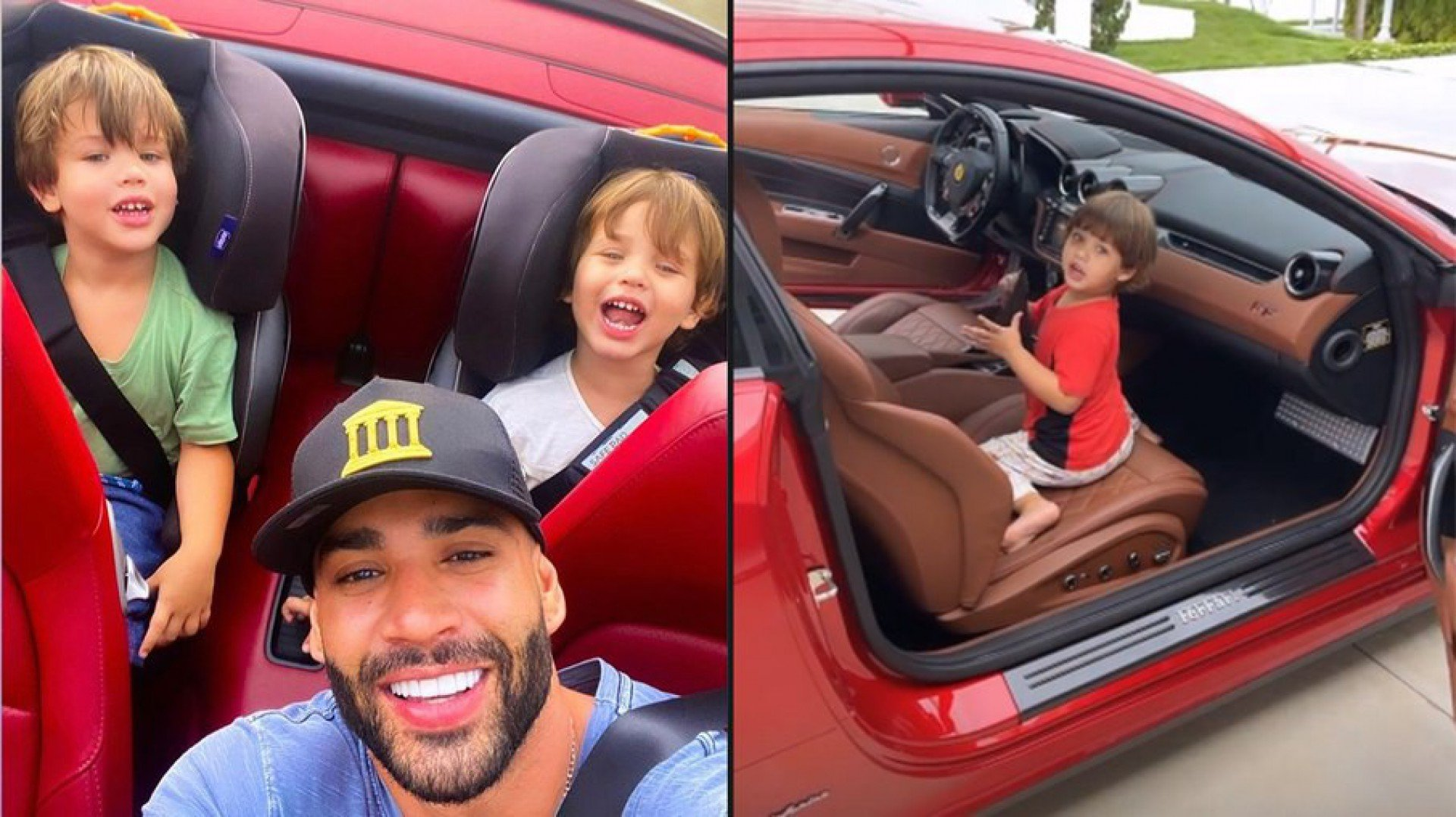 Gusttavo Lima mostra filhos brincando com Ferrari milionária | Celebridades | O DIA