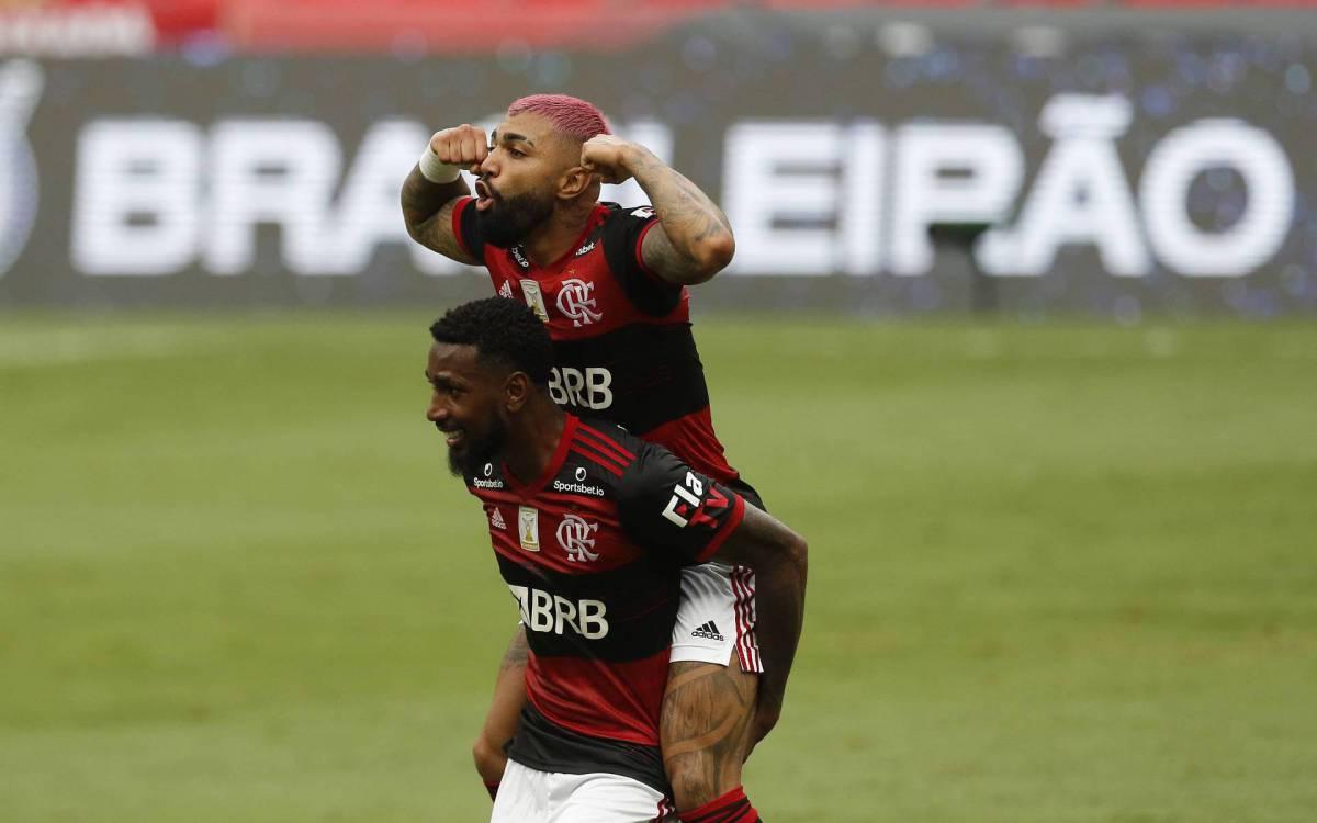 Flamengo bateu o Inter por 2 a 1 no Maracanã - Reginaldo Pimenta / Agencia O Dia