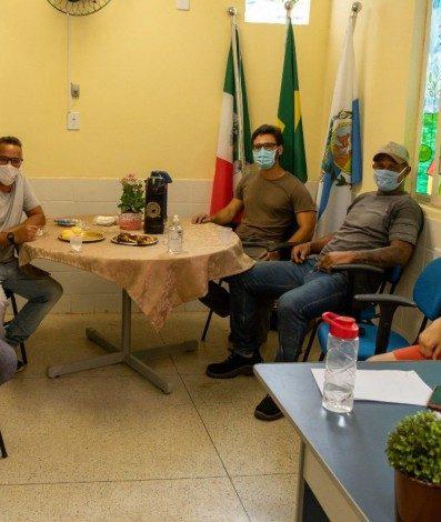 Café da tarde reuniu os coordenadores da creche e os representantes da Secretaria de Desenvolvimento Rural