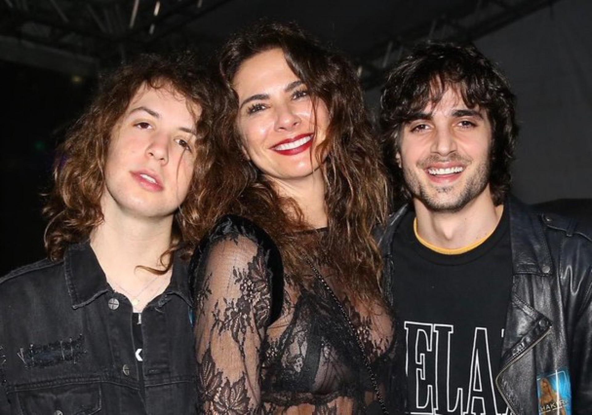 Lucas Jagger, Luciana Gimenez e Fiuk - reprodução Instagram
