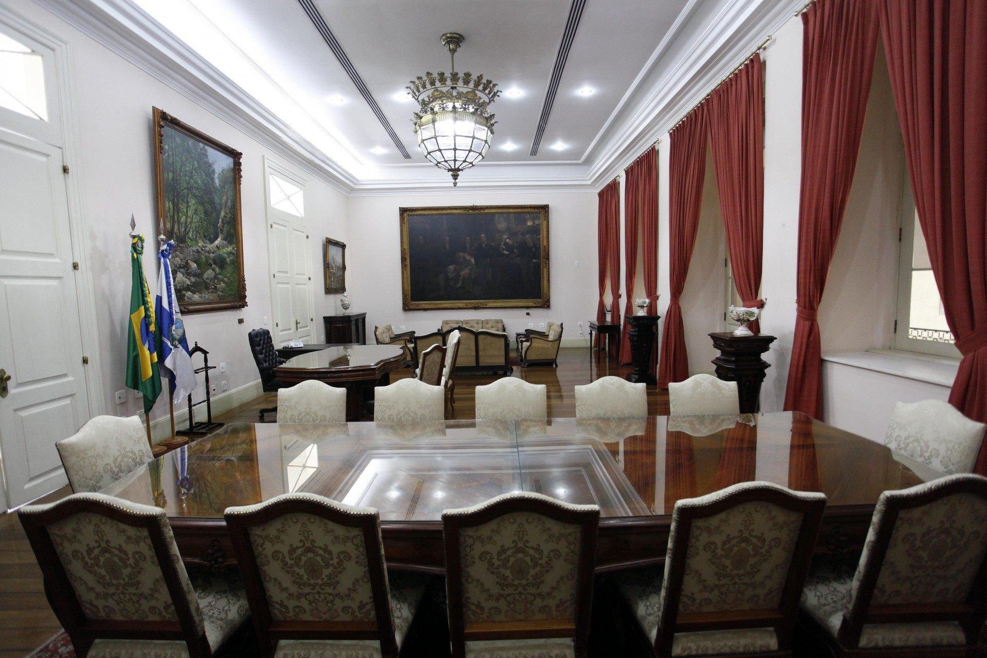 Gabinete do governador no Palácio Guanabara - Divulgação