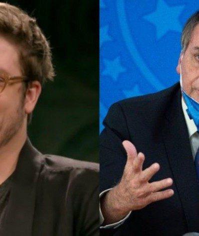 Fabio Porchat (à esquerda) Jair Bolsonaro (à direita)