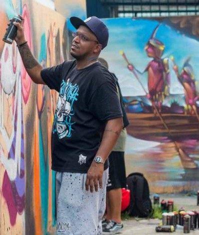 Pakato, um dos principais grafiteiros de São Gonçalo, que morreu este ano em um acidente de motocicleta, receberá homenagem dos colegas neste sábado (20)