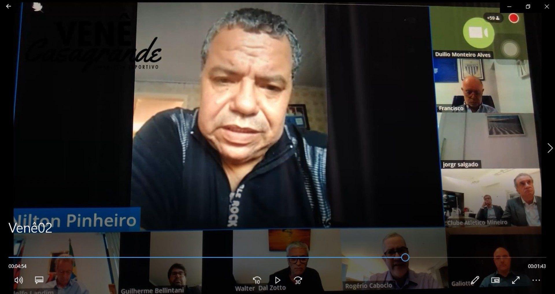 Nilton Pinheiro durante reunião com a CBF - Venê Casagrande/Jornal O Dia