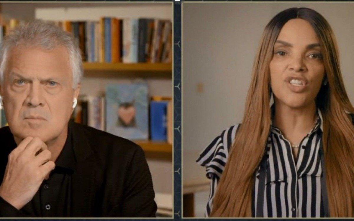 Flor de Lis em entrevista ao programa Conversa com Bial