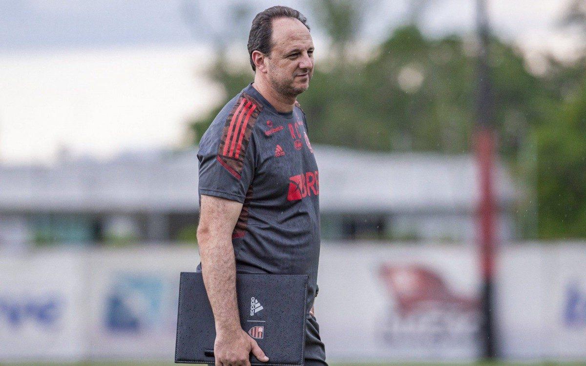 Ceni no treino do Flamengo
