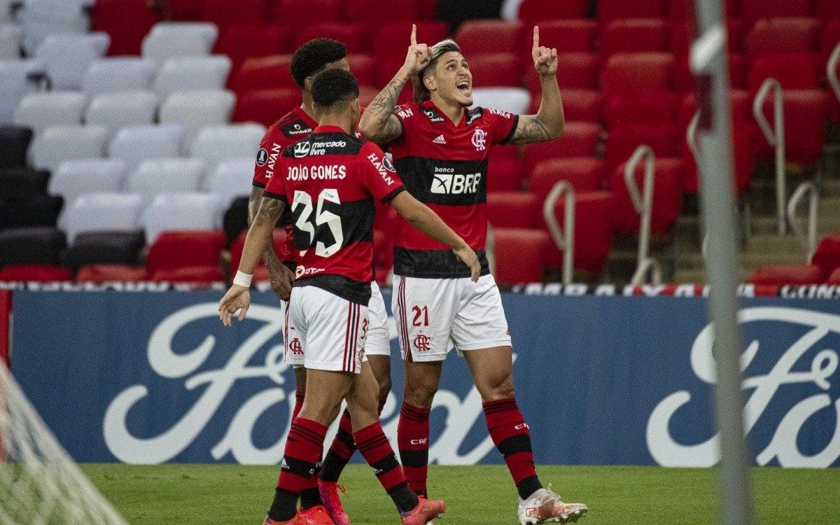 Partida entre as equipes de Flamengo e LDU, válida pela Copa Libertadores da América, realizada no estádio do Maracanã, Zona Norte do Rio, nesta quarta-feira (19).