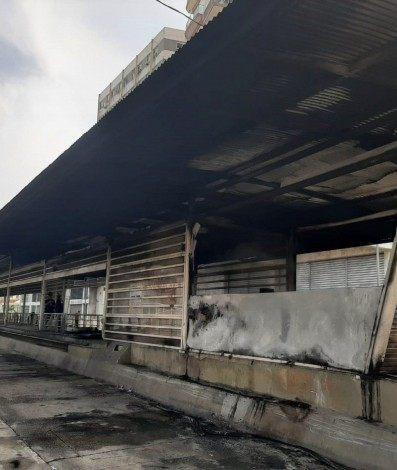 Incêndio atingiu estação da Zona Norte