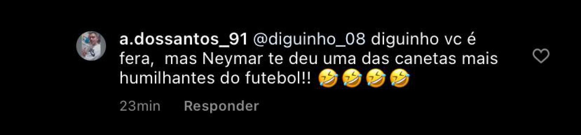 Diguinho provoca Gabigol - Reprodução Instagram
