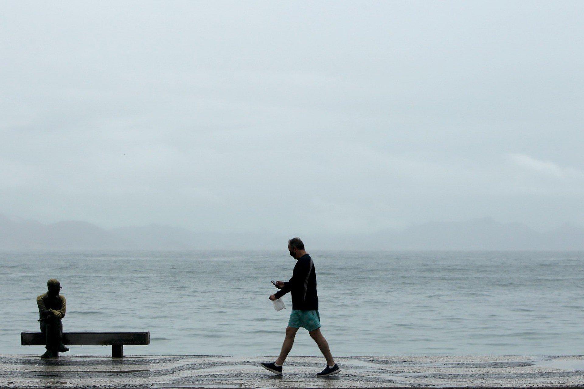 Rio registra forte ventania e queda de temperatura nesta quarta-feira