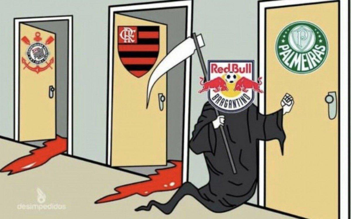 Flamengo sofre com memes após derrota para o Bragantino