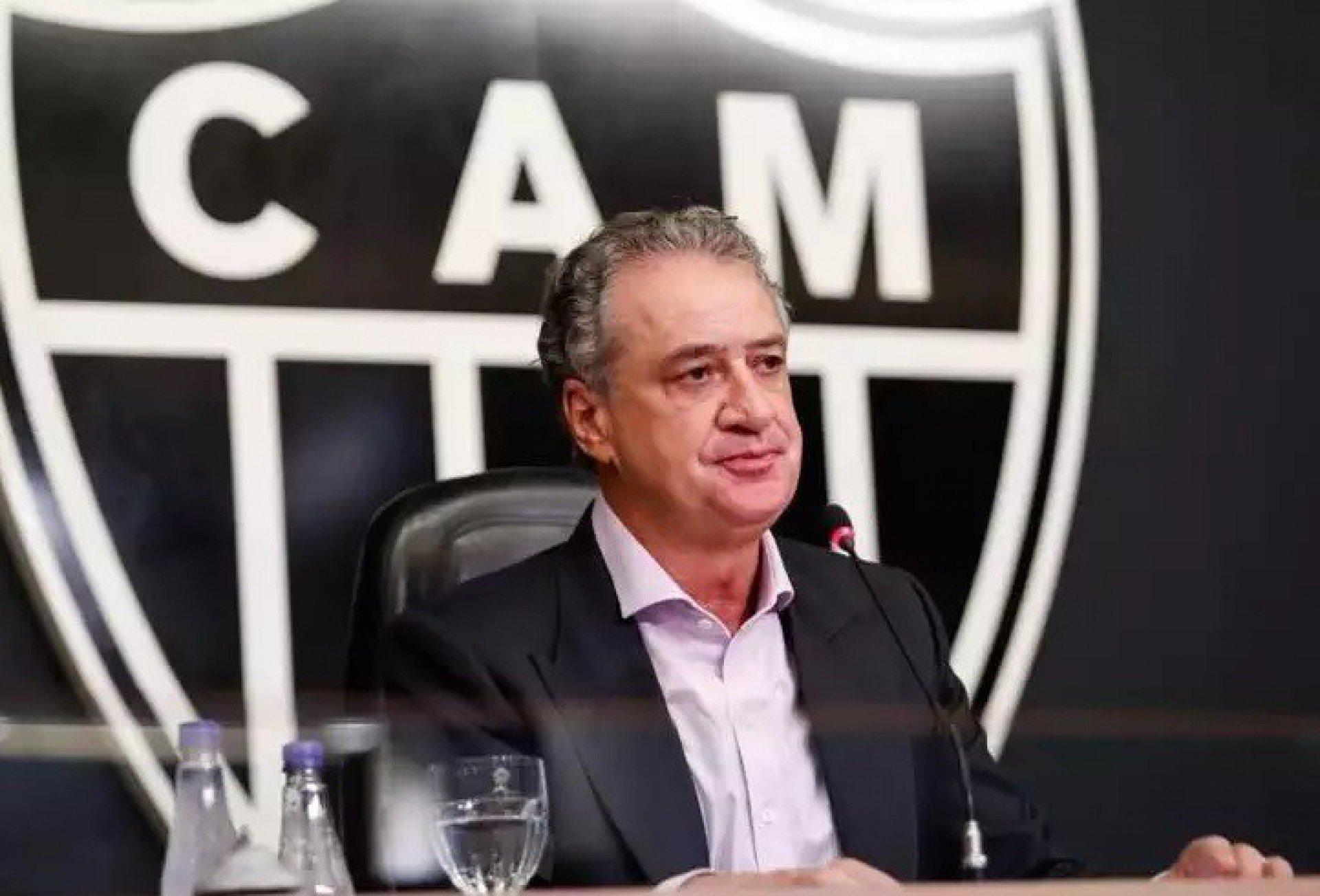 Presidente do Atlético-MG dispara sobre partidas com público: 'Se o Flamengo jogar, jogaremos também'