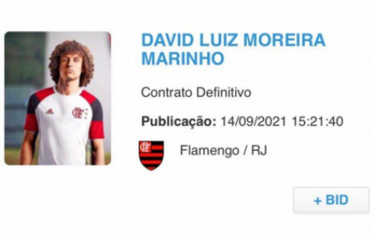 David Luiz é regularizado e já pode estrear no Flamengo