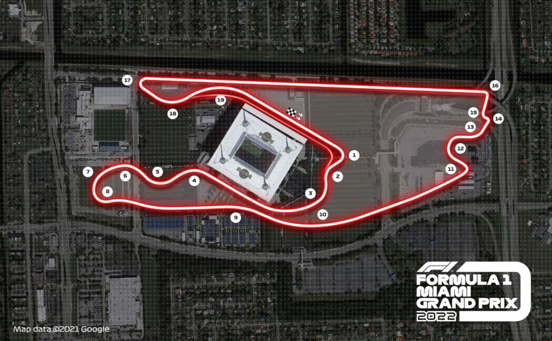 Fórmula 1 confirma estreia do GP de Miami em maio de 2022