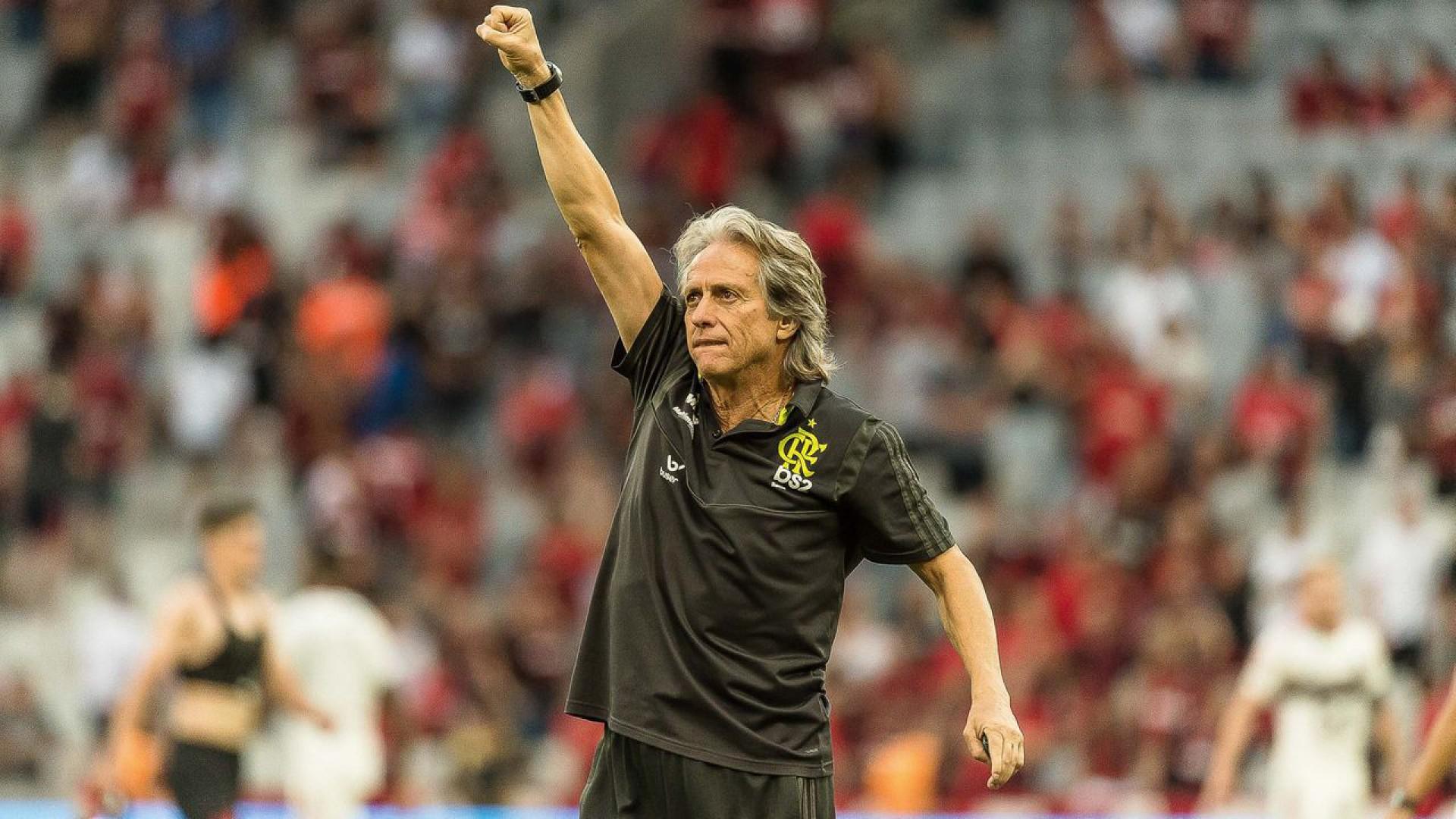 Jorge Jesus afirma que Flamengo disputaria Champions League: 'Não há um desnível grande'