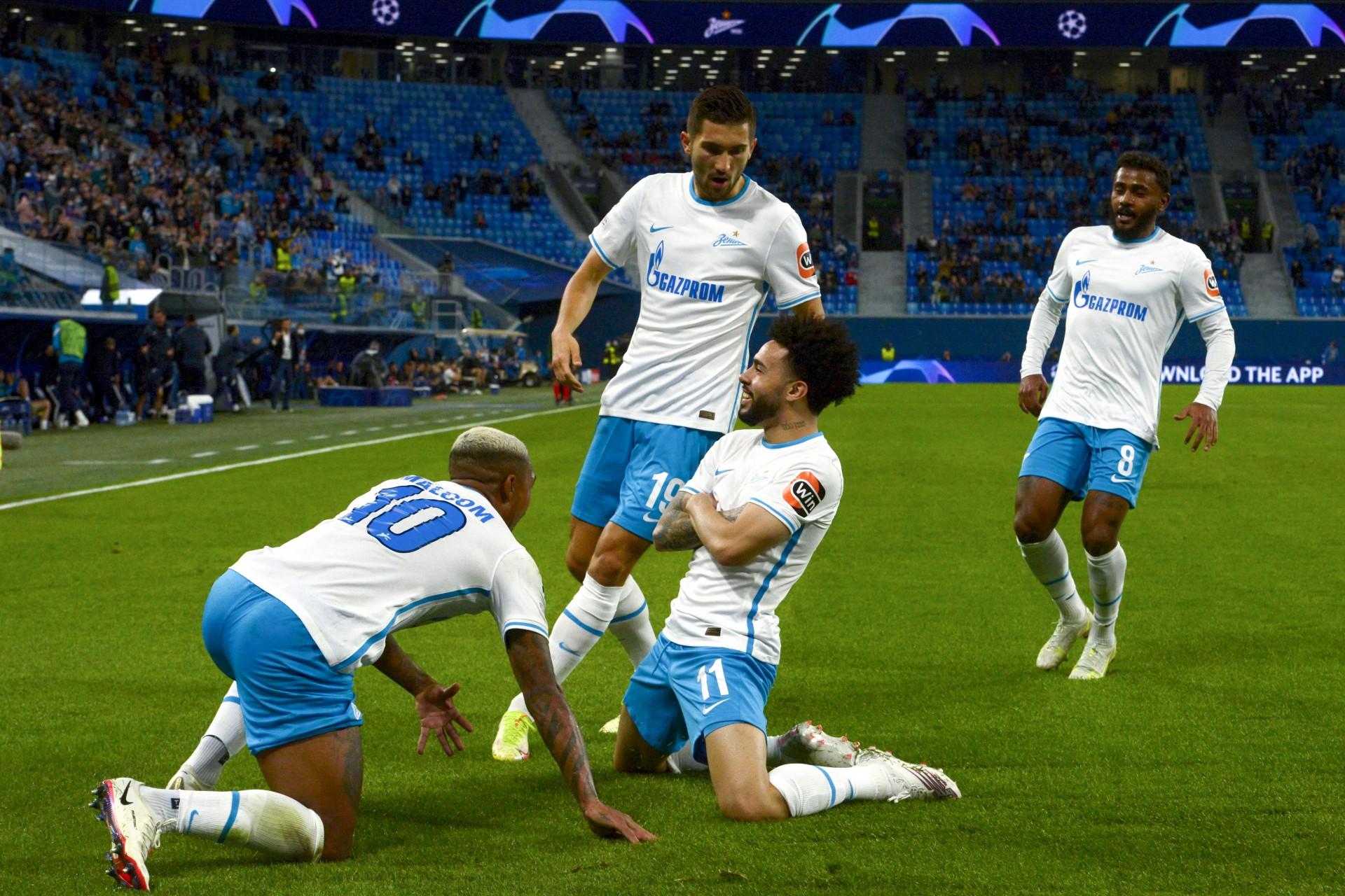 Brasileiros brilham e Zenit goleia o Malmö pela Liga dos Campeões