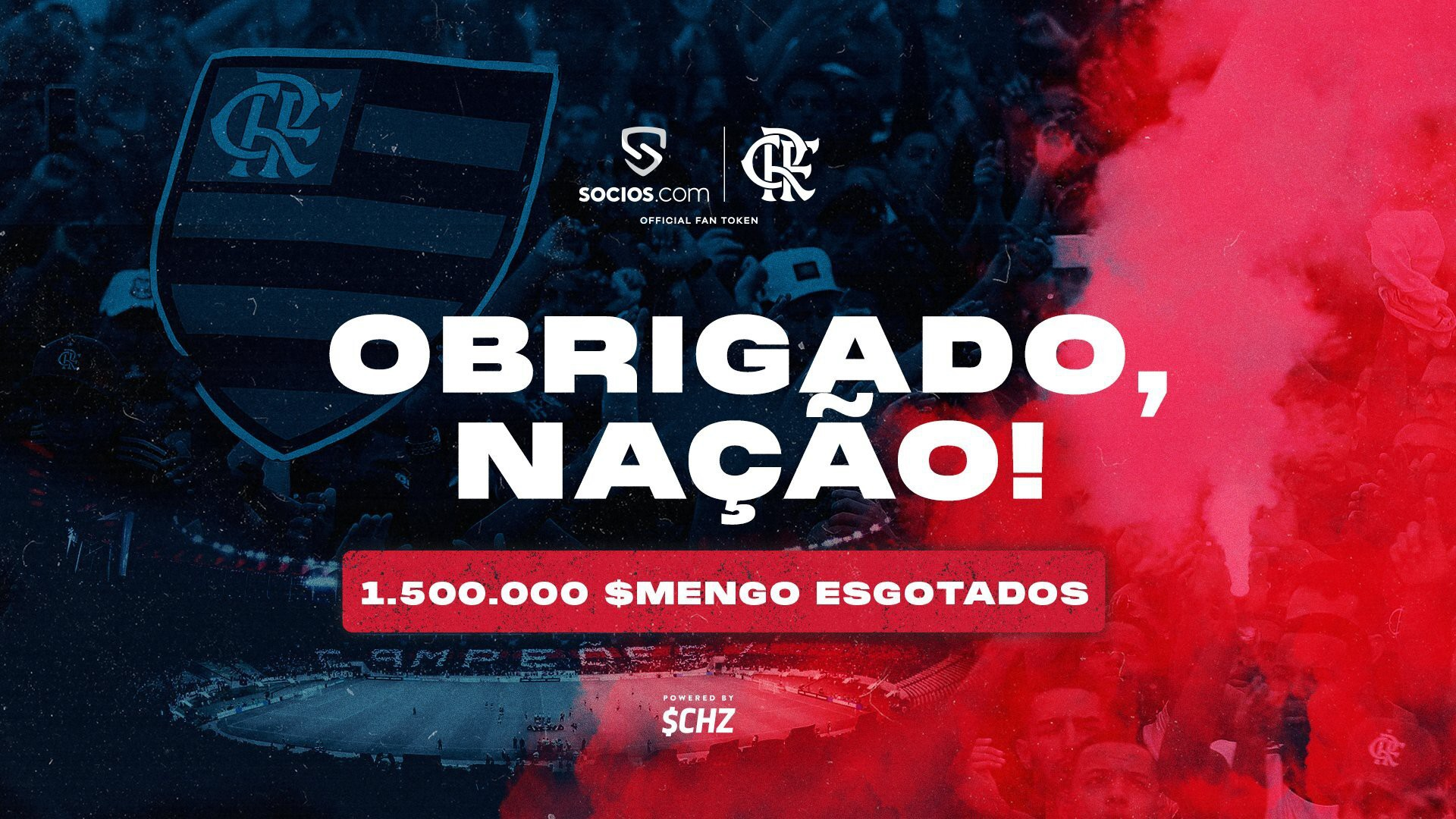 Flamengo bate recorde mundial e esgota 1,5 milhão de fã token em menos de duas horas