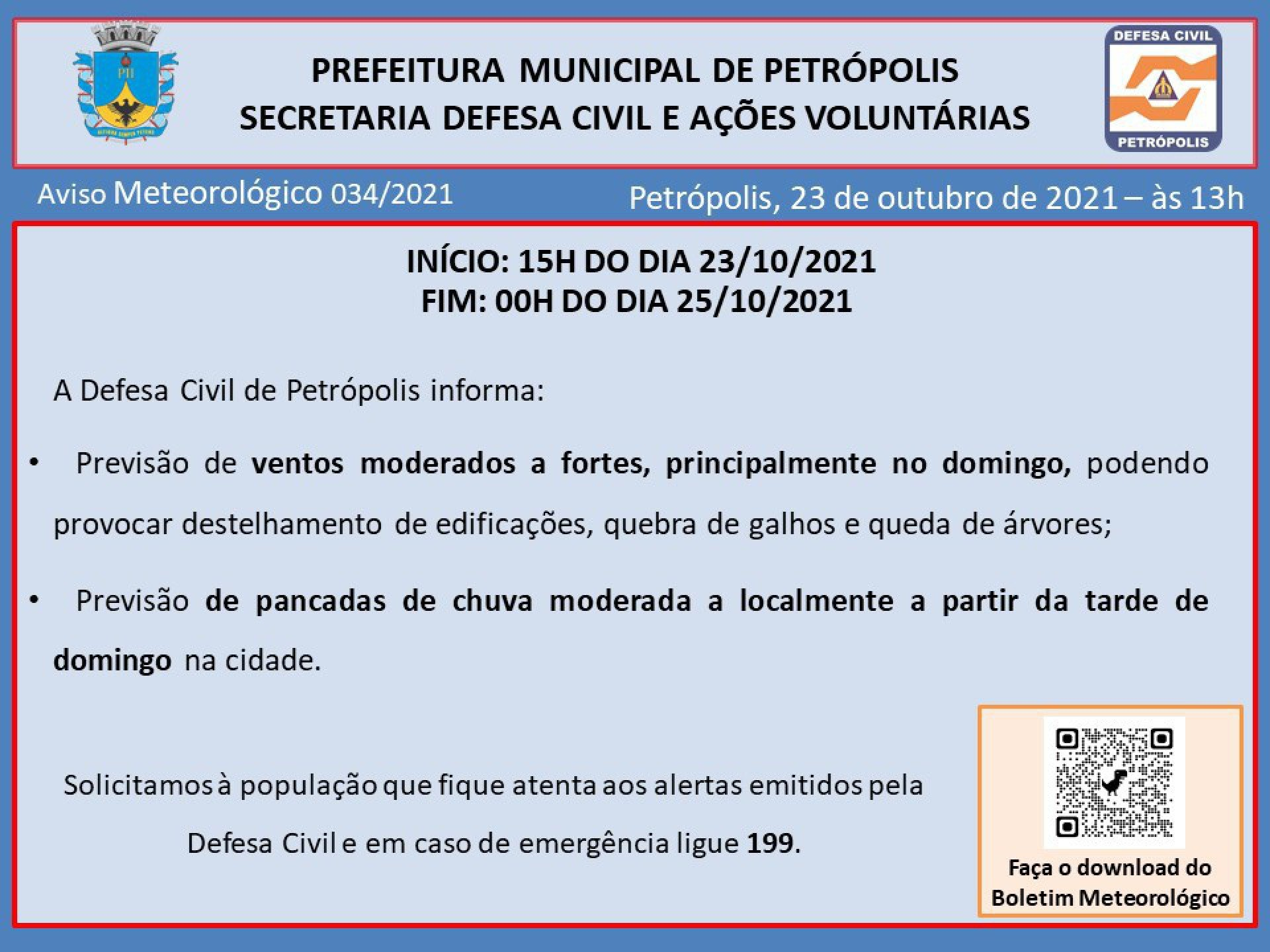 Petrópolis continua com condições climáticas instáveis neste final de semana