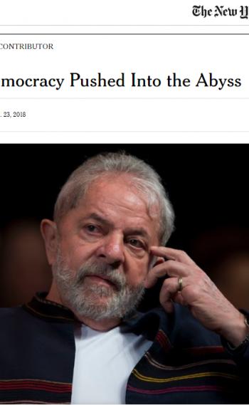 Julgamento do ex-presidente Lula ganha imprensa internacional
