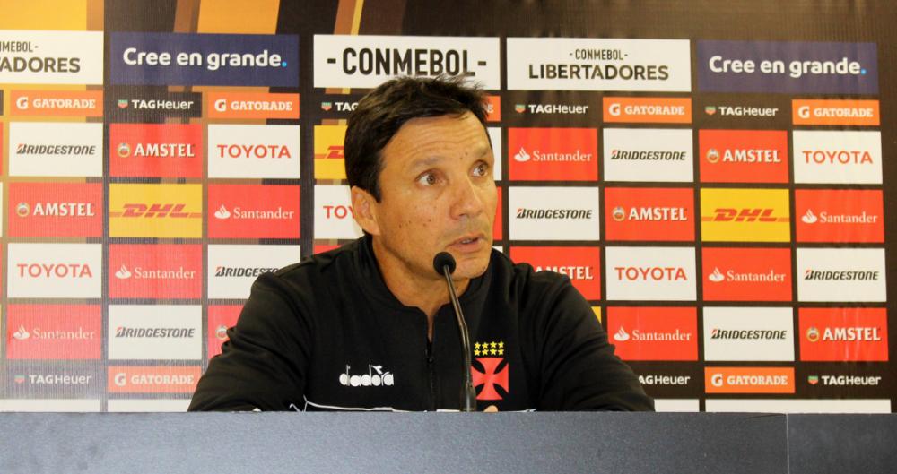 Z� Ricardo em entrevista coletiva ap�s vit�ria na Libertadores