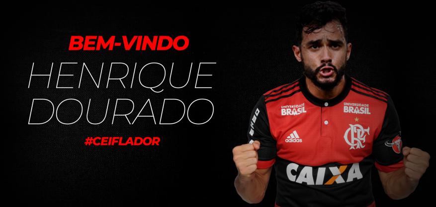 Henrique Dourado � o novo refor�o do Flamengo