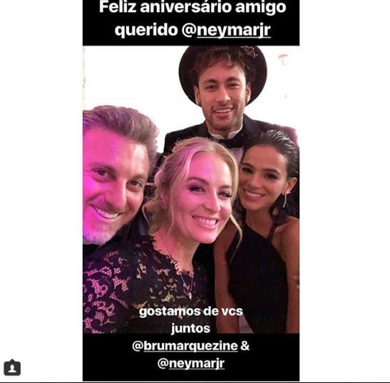 Luciano Huck, Ang�lica, Bruna e Neymar