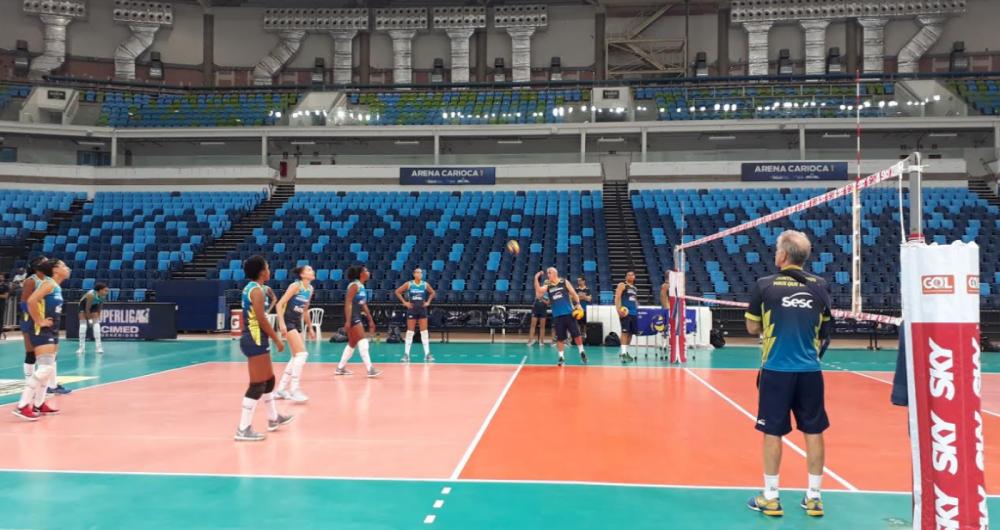 Sesc- RJ treina para a final da Superliga Feminina